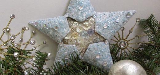 звезды из рулонов от туалетной бумаги