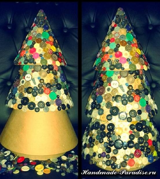 новогодняя елка из пуговиц (4)