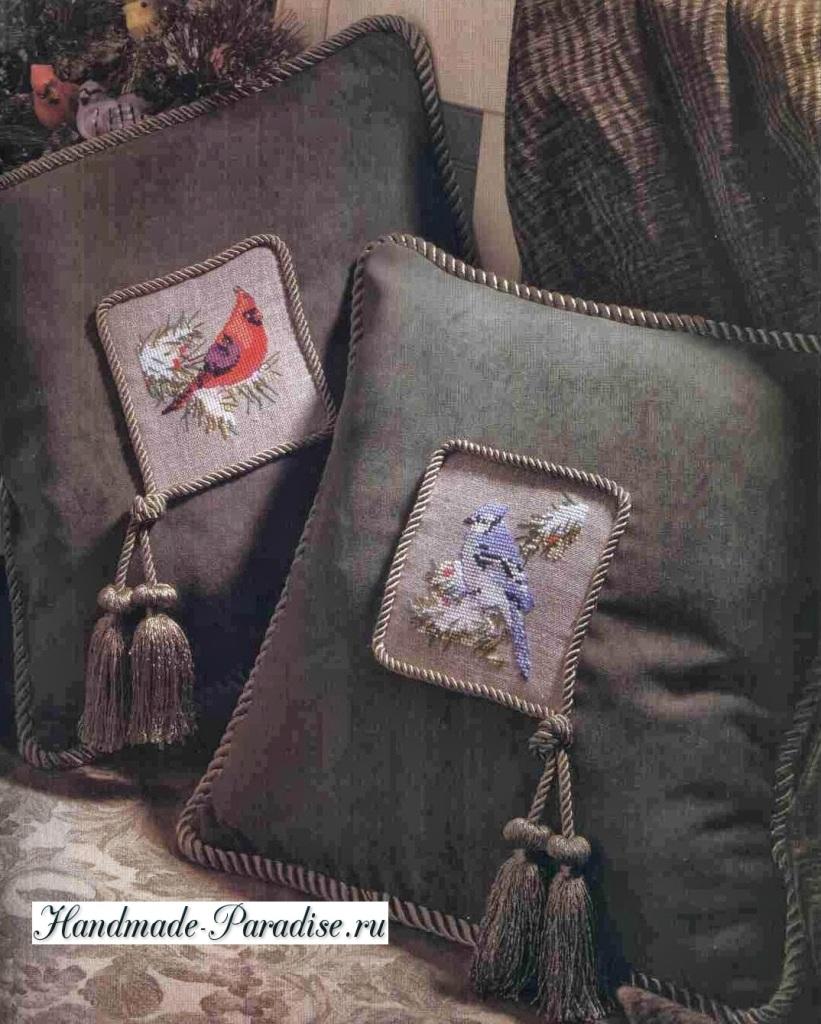 Новогодние подвески с вышивкой (2)