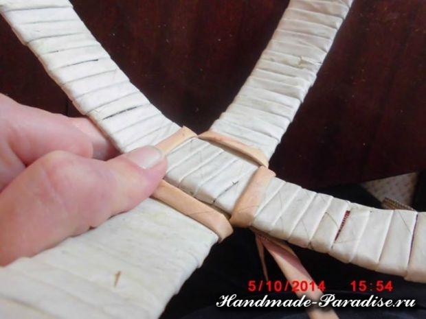 плетение из газет лукошка (1)