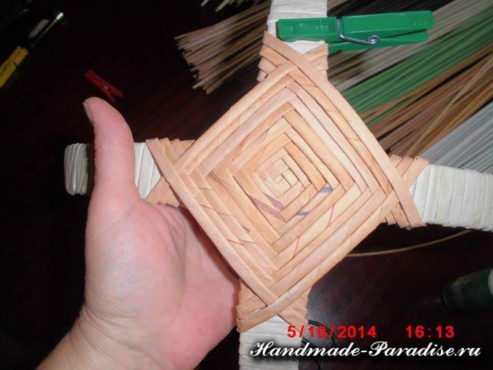 плетение из газет лукошка (3)