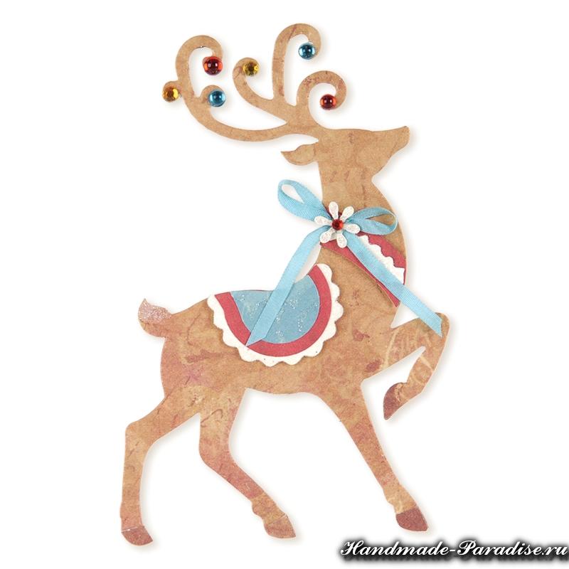 ... сани с оленями из бумаги - Handmade-Paradise: http://handmade-paradise.ru/rozhdestvenskie-sani-s-olenyami-iz-bumagi/