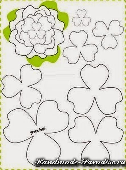 шаблоны цветов из фетра (4)