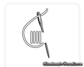 Браслет с вышивкой из молнии (8)
