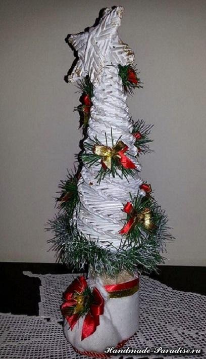 Новогоднее плетение из газет. Мастер-класс (5)