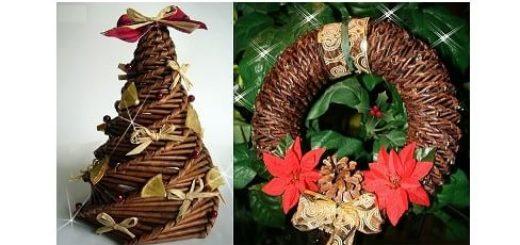Новогоднее спиральное плетение из газет. Мастер-класс