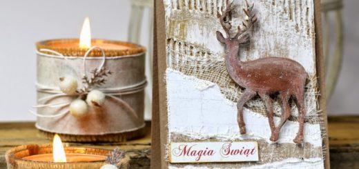 Рождественские открытки с оленем