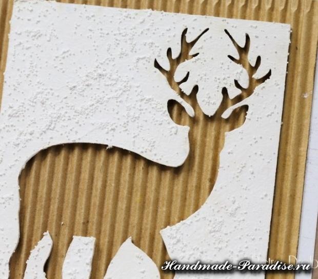 Рождественские открытки с оленем (10)