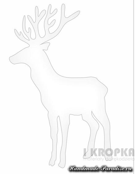 Рождественские открытки с оленем (9)
