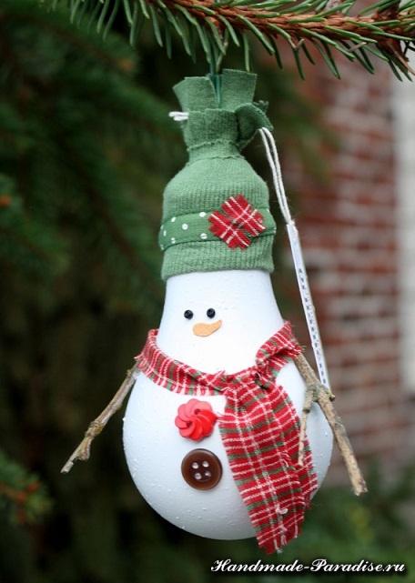 Снеговик из лампочек (3)
