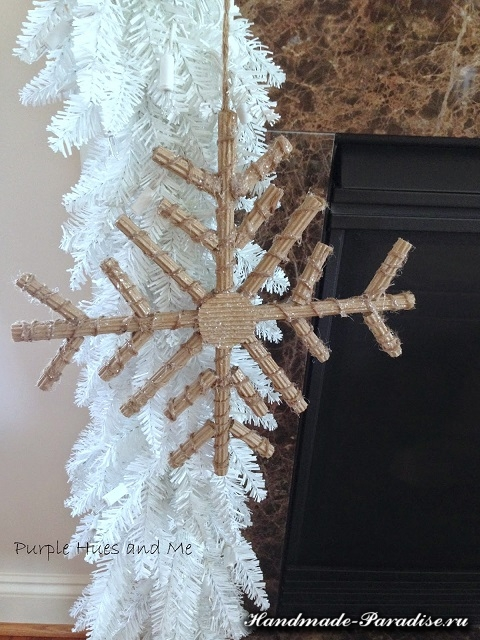 Снежинки из гофрокартона. Мастер-класс (10)