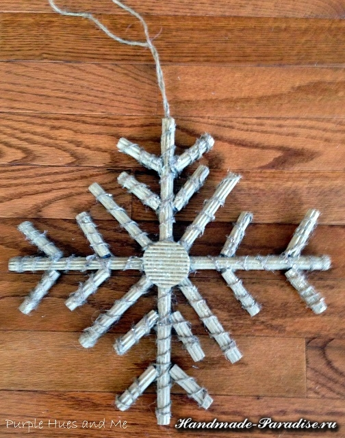 Снежинки из гофрокартона (11)