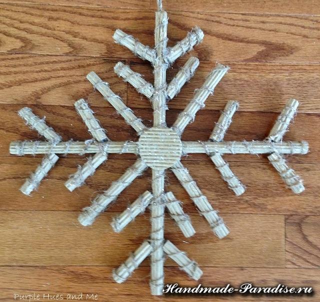 Снежинки из гофрокартона (12)