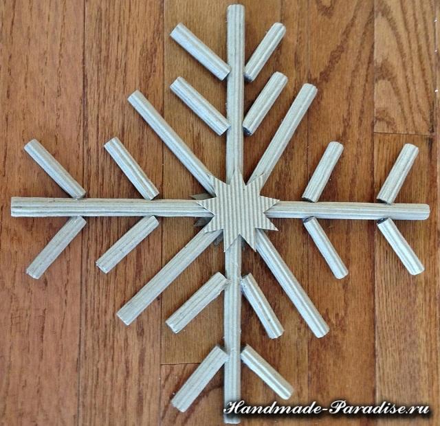 Снежинки из гофрокартона. Мастер-класс (5)