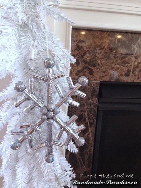 Снежинки из гофрокартона. Мастер-класс (7)