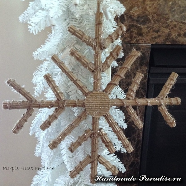 Снежинки из гофрокартона. Мастер-класс (9)