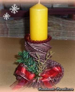 новогоднее плетение из газет (17)