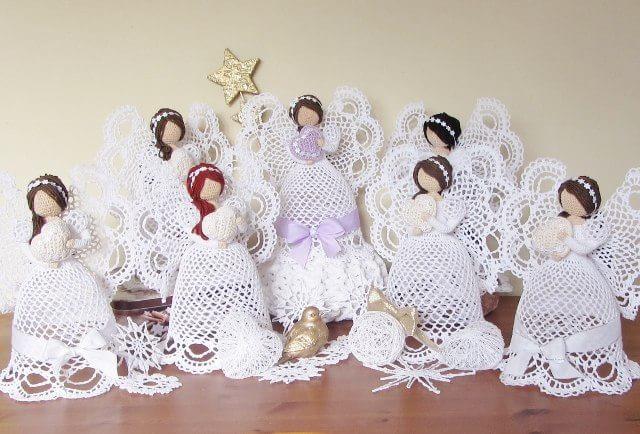 Ажурные ангелы крючком. Схемы