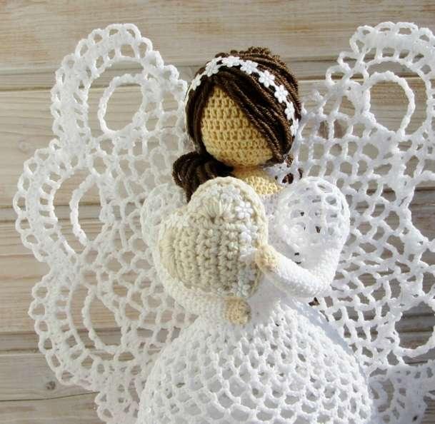 Ажурные ангелы крючком. Схемы (5)