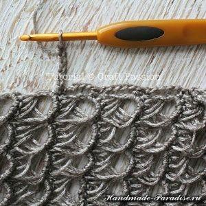 шарф перуанским узором Брумстик (10)