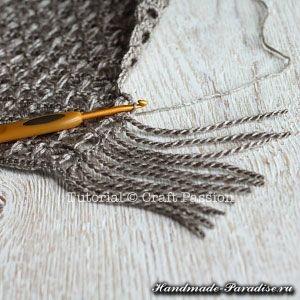 Ажурный шарф перуанским узором (11)