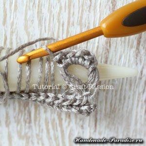 Ажурный шарф перуанским узором Брумстик (6)