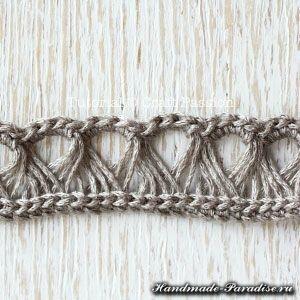 Ажурный шарф перуанским узором Брумстик (7)