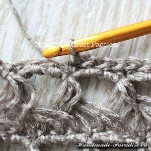 Ажурный шарф перуанским узором Брумстик (9)