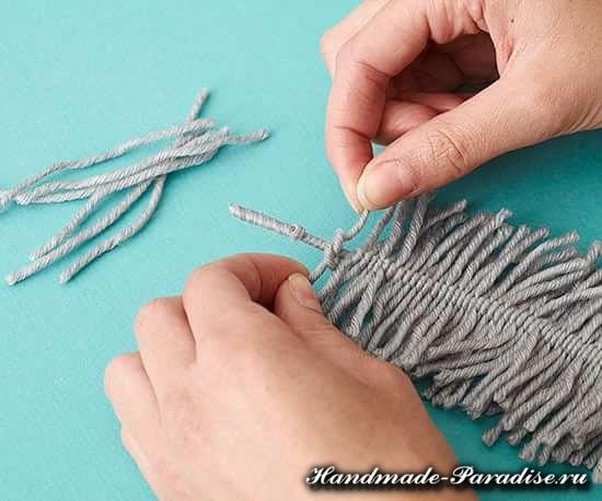 Декоративные перья из ниток. Мастер-класс (5)