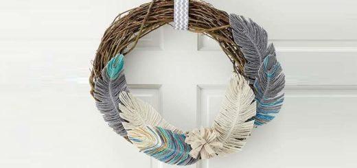 Декоративные перья из ниток. Мастер-класс