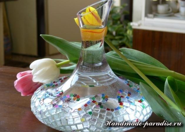 вазы стеклянной мозаикой