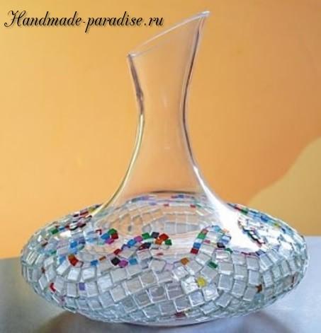 Декорирование вазы стеклянной мозаикой (18)