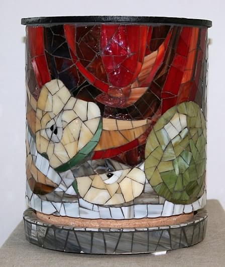 Декорирование вазы мозаикой
