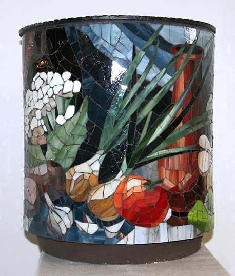 Декорирование вазы стеклянной мозаикой (3)