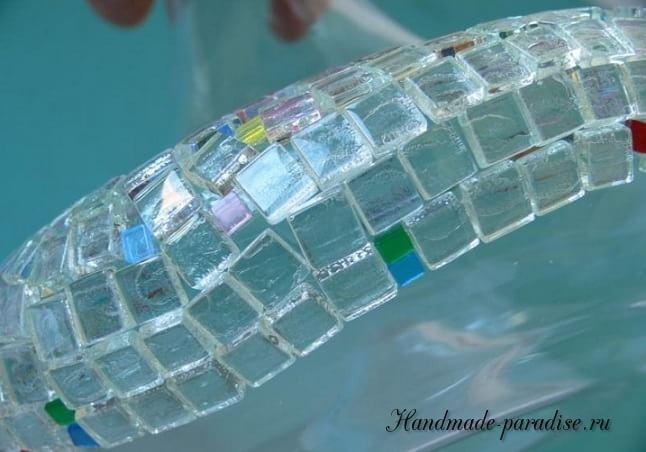 Декорирование вазы стеклянной мозаикой (4)