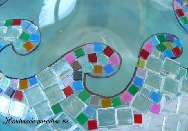 Декорирование вазы стеклянной мозаикой (6)