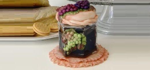 Гроздья винограда из соленого теста. Декоративная баночка