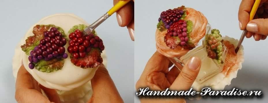 Гроздья винограда из соленого теста (2)