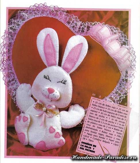 Выкройка подушки валентинки из фетра (3)