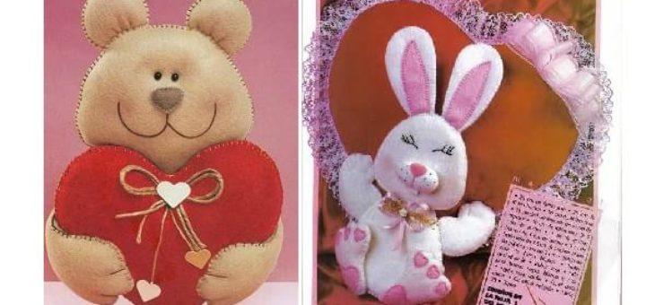 Игрушки из фетра с валентинками