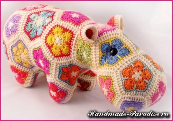 Игрушки крючком - африканский цветок (3)