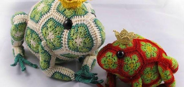 Игрушки крючком - африканский цветок