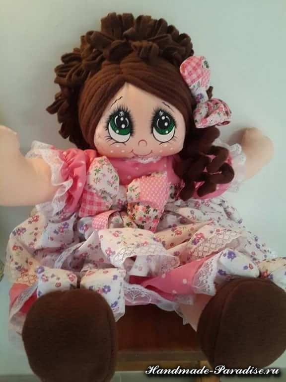 Как нарисовать текстильной кукле глазки (2)