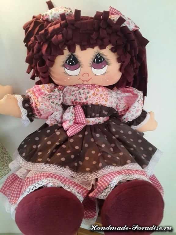 Как нарисовать текстильной кукле глазки (4)