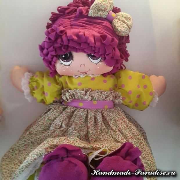 Как нарисовать текстильной кукле глазки (5)