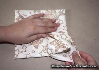 Как сложить салфетку для праздничной сервировки стола (11)