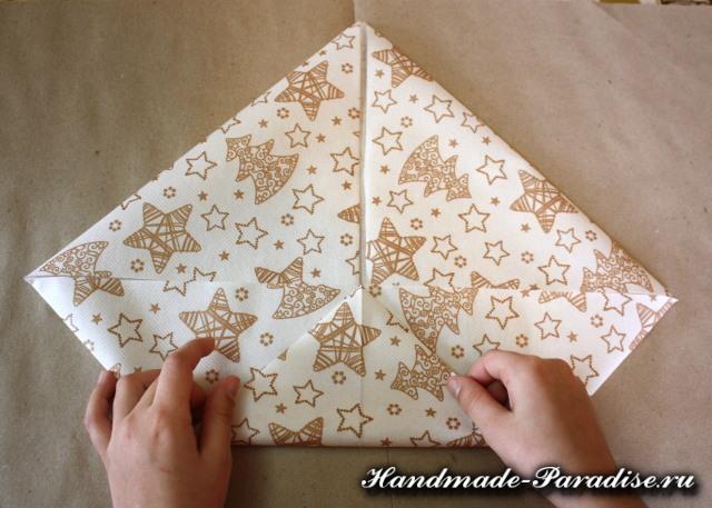 Как сложить салфетку для праздничной сервировки (5)