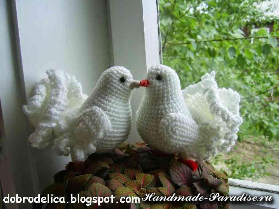 Как связать голубей своими руками