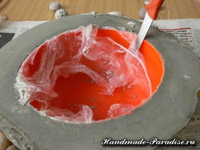 Кашпо из бетона своими руками (3)