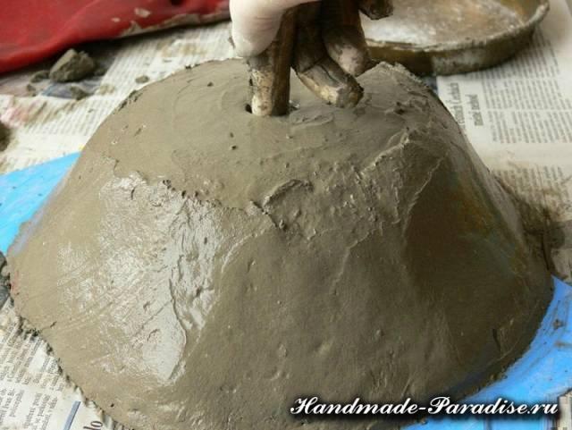 Кашпо из бетона своими руками (6)